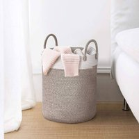 Cotton Rope Laundry Toy Storage Basket With Handle