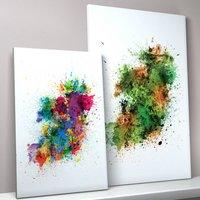 Ireland Paint Splashes Map