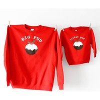 Big Pud Little Pud Christmas Jumper Set