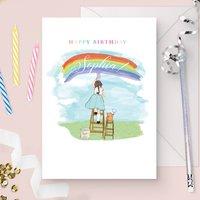 Personalised Girl's Birthday Card 'Rainbows'