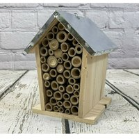 Bee House Nest With Metal Roof
