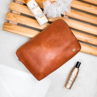 Ladies Large Buffalo Leather Cosmetics Case