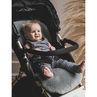 Baa Baby Pram Style Sheepskin Pram Liner Grey Shorn