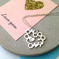 Love Chemistry With Initial Heart Necklace