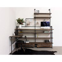 Zack Reclaimed Scaffolding Board Double Desk