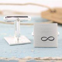 Personalised Anniversary Gift. Infinity Cufflinks