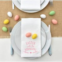 Easter Personalised Easter With The . . . Napkins, Apple Green/Green/Candy Floss