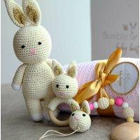 Organic Bunny Toy Baby Gift Set