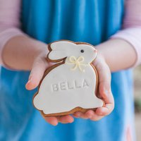 Personalised Bunny Biscuit