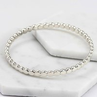 Pebble Sterling Silver Bangle, Silver