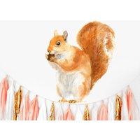 Red Squirrel Wall Sticker