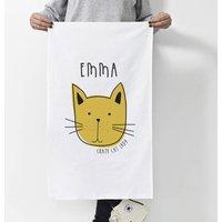 Personalised 'Cat' Tea Towel