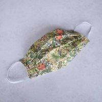 William Morris Pleated Cotton Face Covering