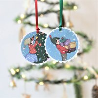 Belle And Boo Christmas Gift Tags