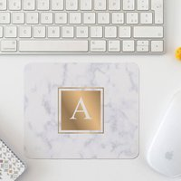 Personalised Marble Initial Mousemat