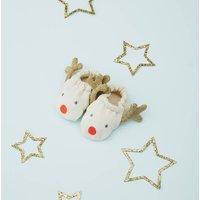 Christmas Reindeer Baby Booties