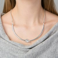 Friendship Knot Necklace, Silver/Rose Gold/Rose