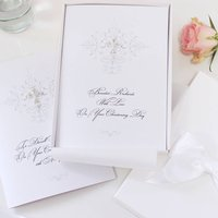 Large Personalised Christening Card Crystal Cross