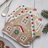 Christmas Gingerbread House Shaped Paper Napkin