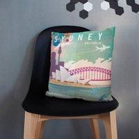 Sydney, Australia Travel Themed Cushion