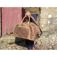 Leather Gym Holdall