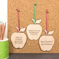 Personalised Teacher Apple Gift, Red/Green