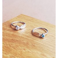 Childs Leaf Ring With Birthstone