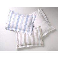 Pavilion Bed Linen: Pillowcase, Taupe/Blue/White