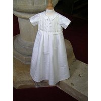 Christening Gown And Romper Fulham White