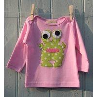 Baby Long Sleeve Alien Top, Pink