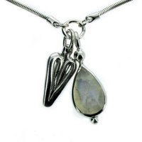 Teardrop moonstone pendant