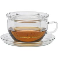Glass cup set with glass infuser