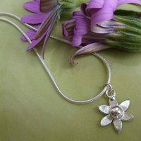 Silver Flower Pendant, Silver