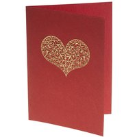 Embossed Heart Cards