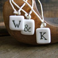 Mini Porcelain Letters