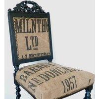 Vintage 1957 Grain Sack Chair