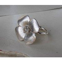 Handmade Silver Rose Ring, Silver