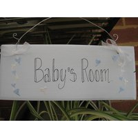 Babies And Childrens Room Signs, Pink/Blue
