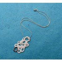 Galatea Silver & Porcelain Necklace, Silver