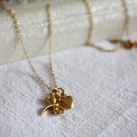 Dragonfly And Heart Necklace