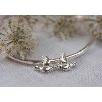 Silver Love Birds Bangle, Silver