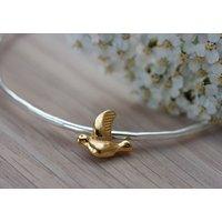 Gold Bird Bangle, Gold