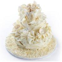 Vintage Chocolate Wedding Cake