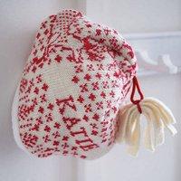 Personalised Baby Hat, Scarlet/Cream/Navy