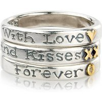 'With Love And Kisses Forever' Ring Trio