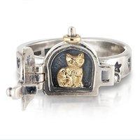 Cat Opening Locket Ring
