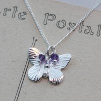 Butterfly Necklace In Sterling Silver, Silver