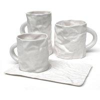 Fine Porcelain White Crinkleware