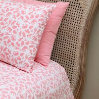 Safari Pink Single And Cot Duvet Cover Set, Pink