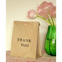 Pack Of Five 'Thank You' Gift Bags, Navy/Mint/Black